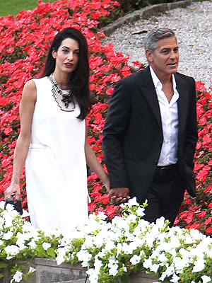 George Clooney and Amal Alamuddin Spend Time with Her Mother in Italy
