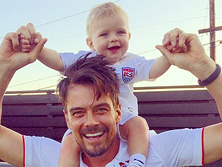 Goal! Josh Duhamel & Son Axl Show Support for Team USA in Adorable Photo
