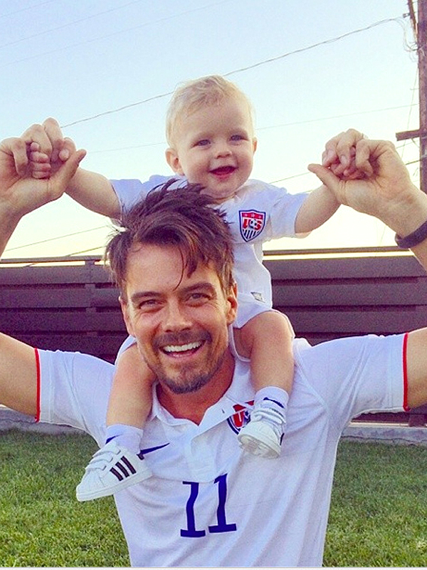 Josh Duhamel son Axl USA soccer Instagram photo