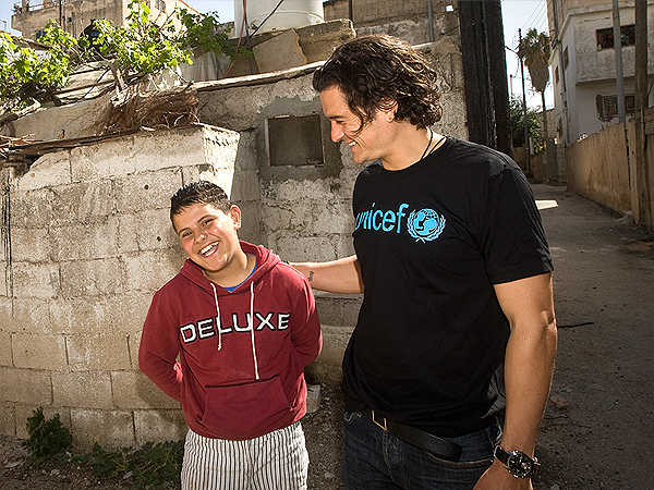 Orlando Bloom Visits Syrian Child Refugees as UNICEF Goodwill Ambassador