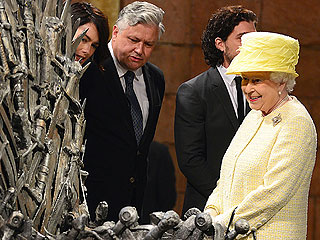 Queen Elizabeth Visits Game of Thrones Set in Belfast | Queen Elizabeth