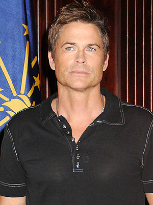 Rob Lowe and Fami
