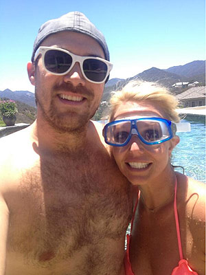 PHOTO: Britney Spears Grins Poolside with Boyfriend David Lucado