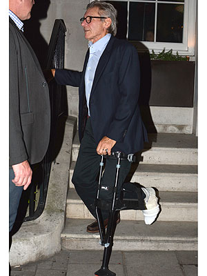 Harrison Ford Skillfully Adapts to Special Crutch After Injury