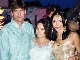 PHOTOS: Mila & Ashton Dazzle at Indian Wedding