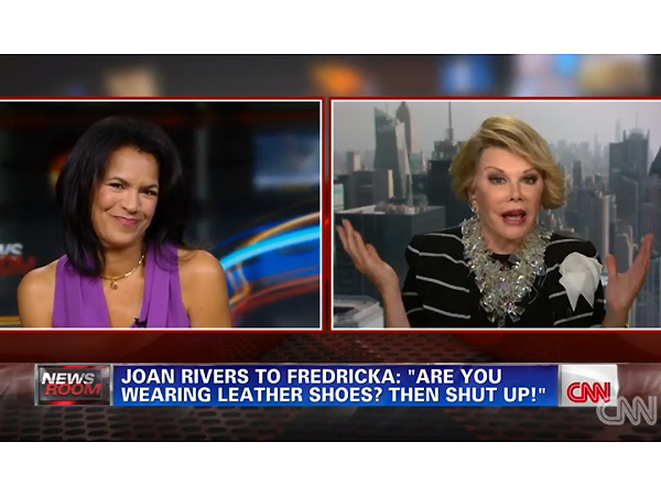 Joan Rivers Walks Out on CNN Interview, Video