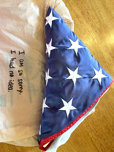 Thief Returns Deceased 9/11 Firefighter's Flag with Apology| Crime & Courts, Independence Day, Good Deeds, Real People Stories