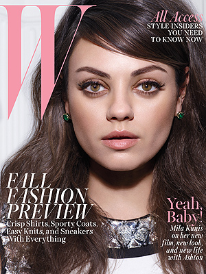 Mila Kunis on W Cover: Ashton Kutcher Is 'Love of My Life'