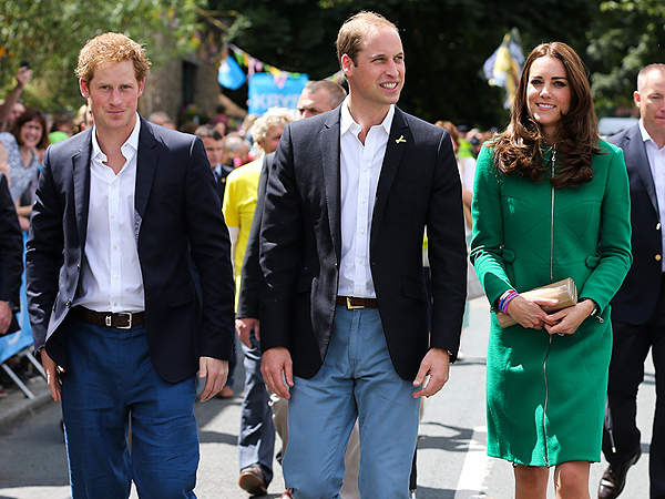 William & Kate and Harry Kick Off the Tour de France