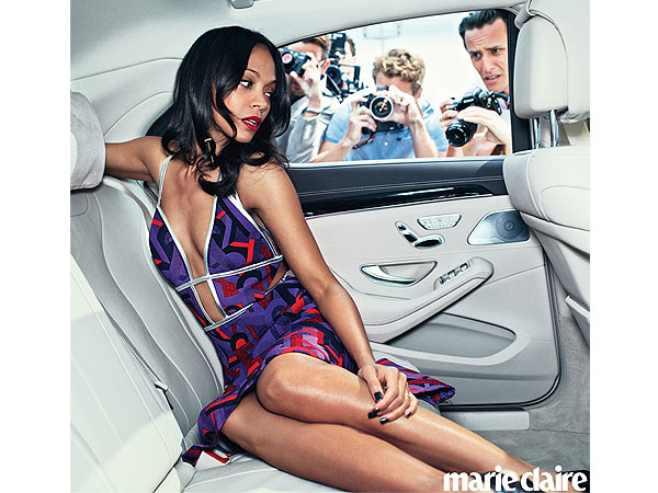Zoe Saldana Talks About Her Marriage to Marco Perego