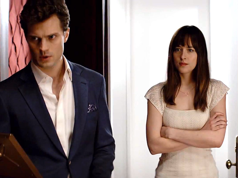Fifty Shades of Grey Gets Titillating First Trailer That's Too Hot for TV | Dakota Johnson, Jamie Dornan