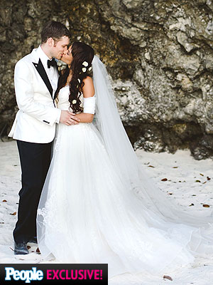 Joseph Morgan and persia white wedding