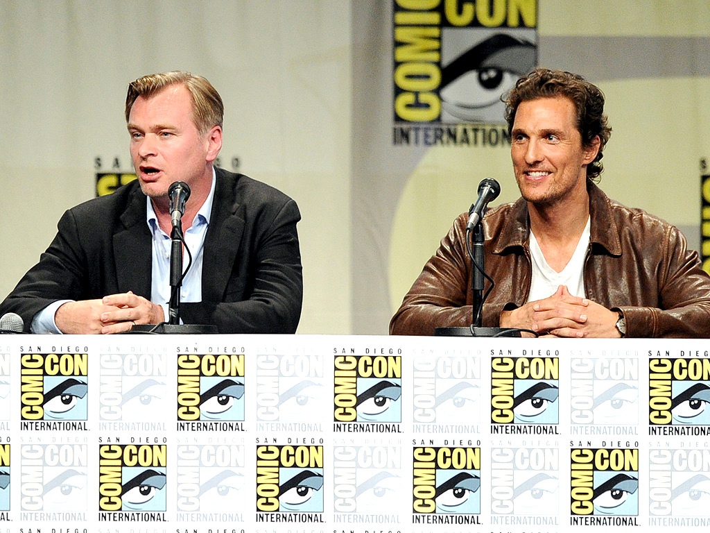 From EW: Matthew McConaughey & Christopher Nolan Make Comic-Con Debut | Christopher Nolan, Matthew McConaughey