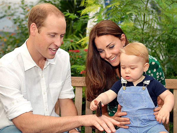 Prince George Is Fascinated by Butterflies in Official Photos to Mark His First Birthday| Babies, Birthdays, The British Royals, The Royals, Kate Middleton, Prince George, Prince William