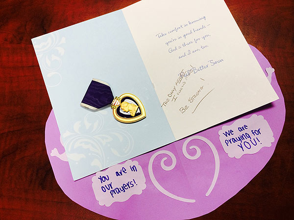Slender Man Stabbing Survivor Receives Purple Heart Medal from Anonymous Donor