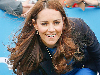 GIF: Kate Hops in Heels While Playing 'Three Tins'