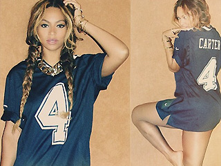 Beyoncé Poses in 'Carter' Jersey in Steamy New Pic