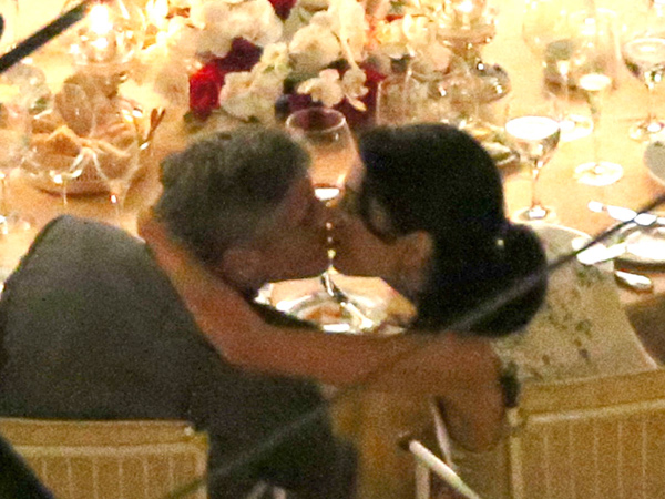 George Clooney and Amal Alamuddin Share Romantic Dinner in Italy (PHOTOS)| Couples, Engagements, Caught in the Act, Amal Alamuddin, George Clooney