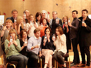 Downton Abbey Cast Responds to 'Water-Bottle-Gate' in Amusing Photo