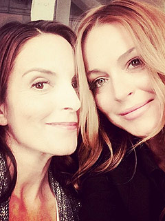 So Fetch: See Mean Girls Costars Tina Fey & Lindsay Lohan Reunite (PHOTO) | Lindsay Lohan, Tina Fey