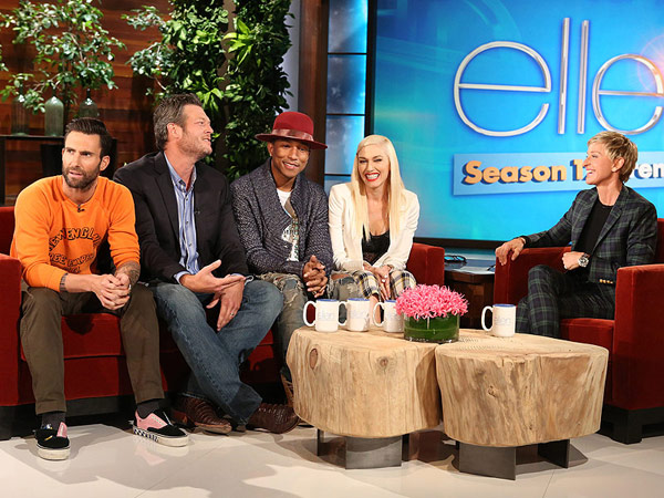 Adam Levine Loves the Word 'Wife,' but Blake Shelton Isn't Ready for Kids| Couples, The Voice, TV News, Adam Levine, Blake Shelton, Ellen DeGeneres