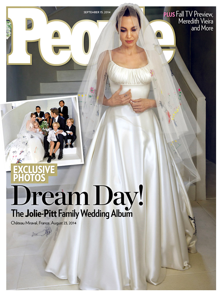 Brad pitt and angelina jolie s family wedding album appears in people