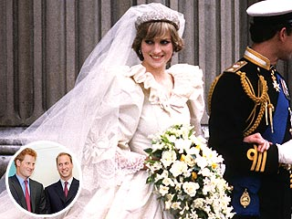 Princes William & Harry Will Get Princess Diana's Wedding Dress – Finally | Prince Harry, Prince William