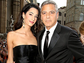 Crowd Gathers for George's Wedding but Cheers Another Couple Instead | Amal Alamuddin, George Clooney