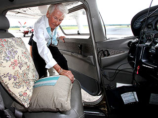 Woman Celebrates 90th Birthday by Flying a Plane