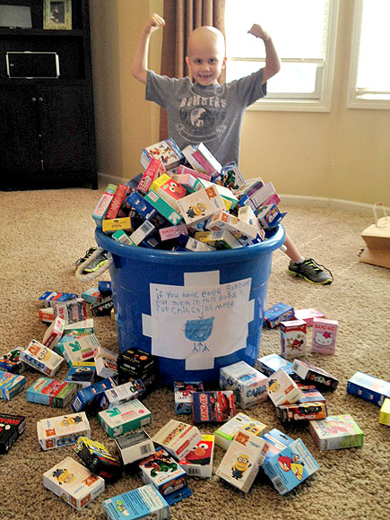 Battling Cancer, Noah Wilson, 6, Collects Superhero Bandages for Sick Kids| Heroes Among Us, Good Deeds, Real People Stories, Real Heroes
