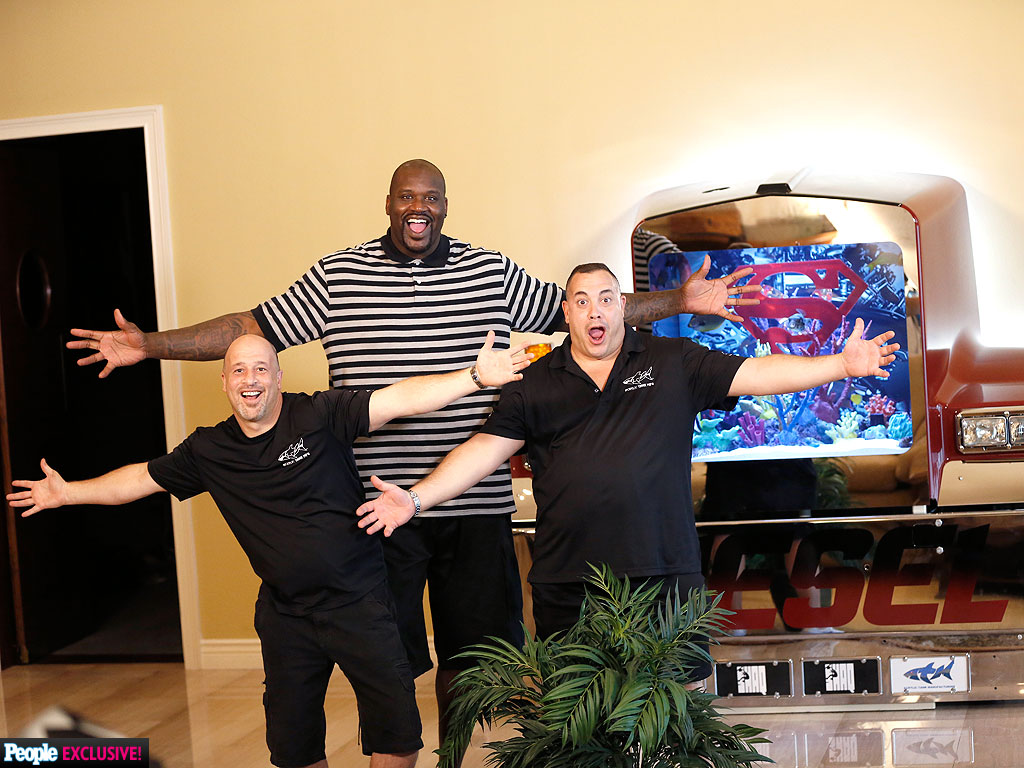 See Shaquille O'Neal's Fish Tank – It's HUGE