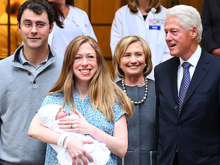 Chelsea Clinton and Marc Mezvinsky Take Baby Charlotte Home
