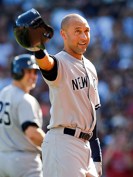 Derek Jeter Leaves Yankees with a Hit and 9-5 Win over Red Sox