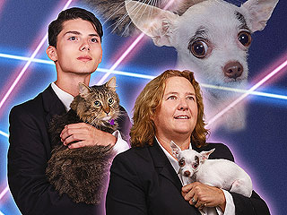School Principal Joins Student's Laser Cat Photo for Yearbook