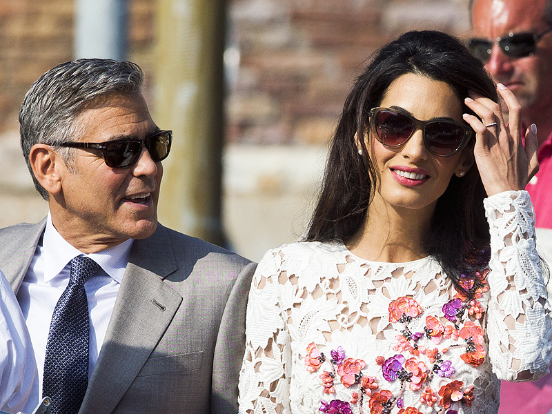 Meet Mr. and Mrs. Clooney! Newlyweds George and Amal Step Out in Venice| Couples, Wedding, Amal Alamuddin, George Clooney