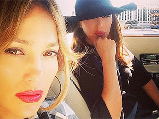 Jennifer Lopez and Leah Remini Rear-Ended by Drunk Driver