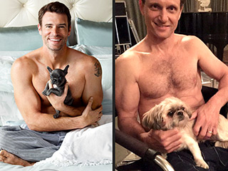 Which Scandal Star Posed Shirtless with a Pup to Mock His Costar? | Scott Foley, Tony Goldwyn
