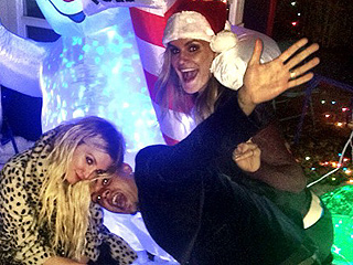 Christmas in October? Ashlee Simpson Toasts Birthday with Holiday-Themed Bash