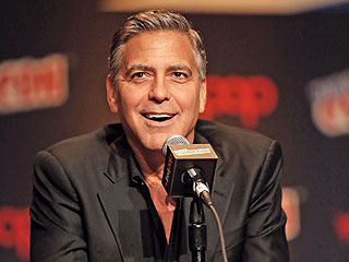 The Honeymoon's Over: George Clooney Steps Out at New York Comic Con