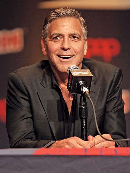 George Clooney Promotes Tomorrowland at New York Comic Con