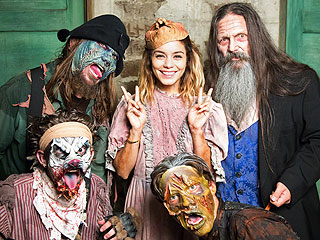 Watch Vanessa Hudgens Scare Unsuspecting Fans at Knott's Scary Farm