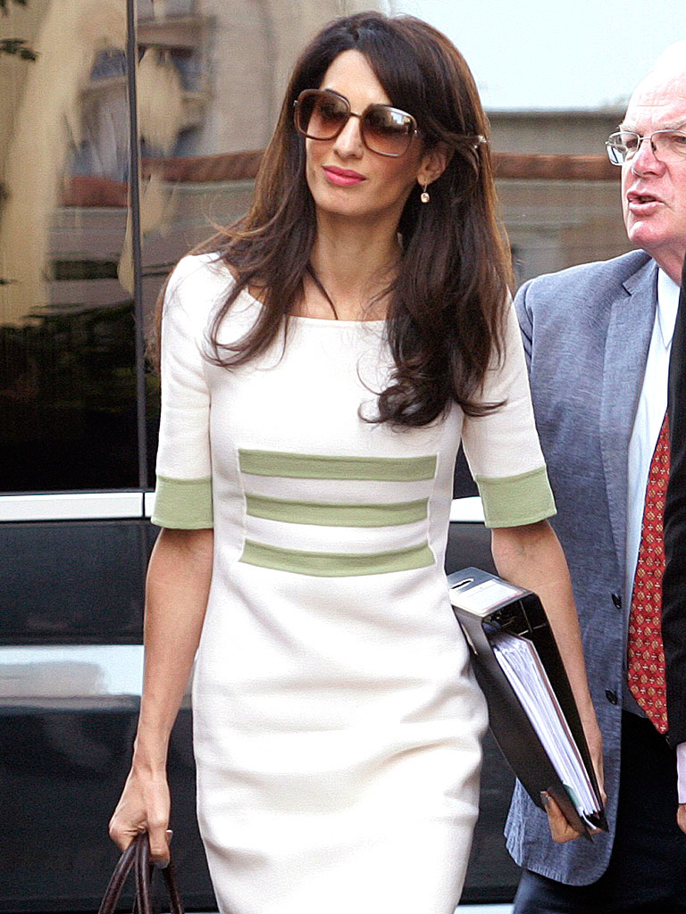 Amal Clooney Steps Out in Greece for Parthenon Marbles ...