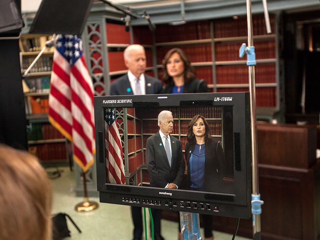 Joe Biden and Mariska Hargitay Team Up Against Campus Rape