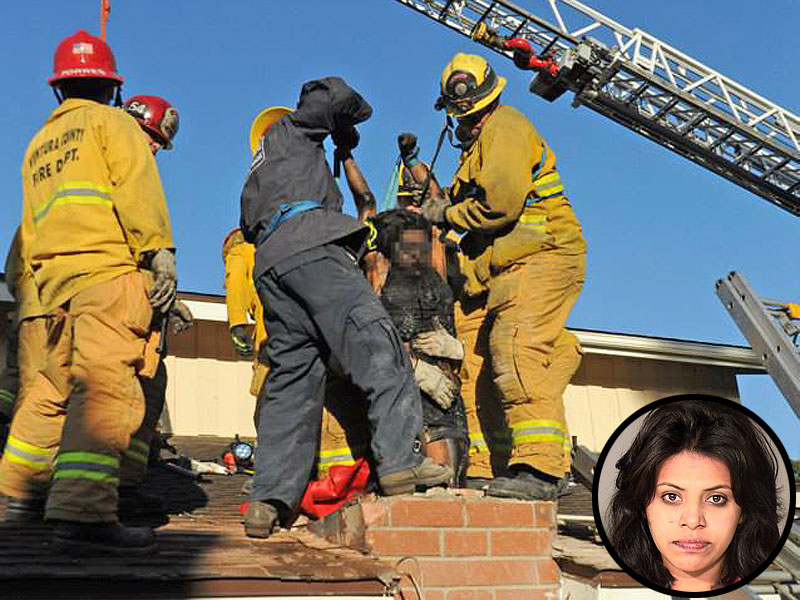 Woman Stuck in California Chimney Saved, Then Arrested