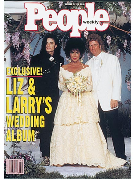 Elizabeth Taylor & Michael Jackson at Her Final Wedding: Never-Before-Seen Photos| Weddings, Brooke Shields, Elizabeth Taylor, Michael Jackson