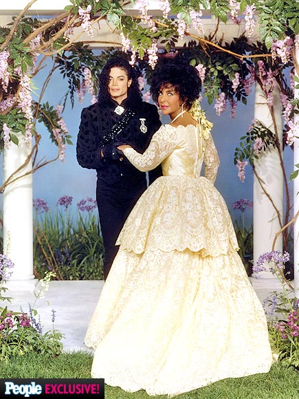 elizabeth taylor wedding photographs � michael jackson mjstar