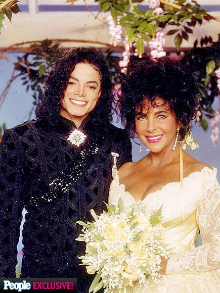 elizabeth taylor amp michael jackson at her final wedding