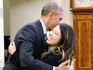 Nina Pham Cured of Ebola, Hugs Obama