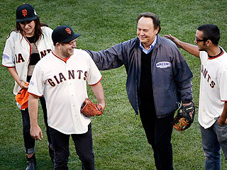 Robin Williams's Kids Throw First Pitch at World Series Game to Honor Him | Billy Crystal