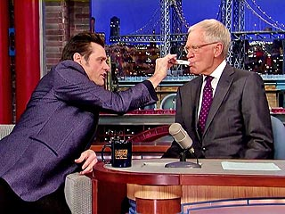 Jim Carrey Tests David Letterman for Ebola (VIDEO) | David Letterman, Jim Carrey